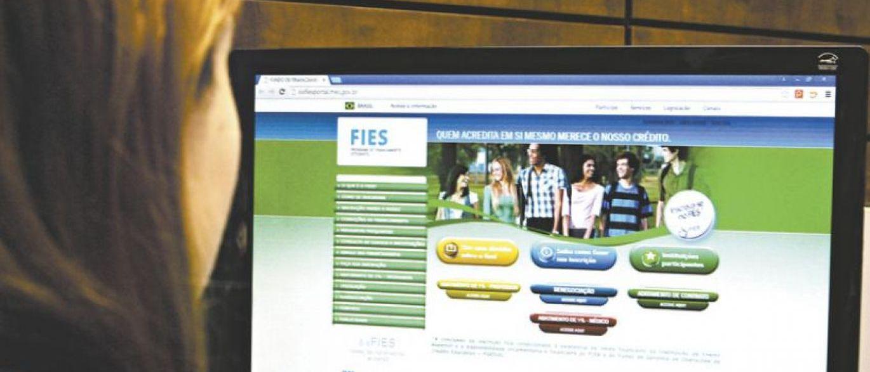 Inscrições FIES 2020 pela internet