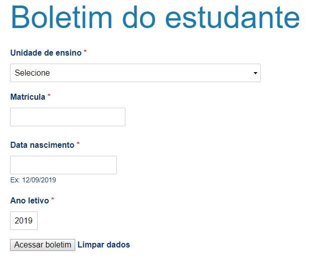 Boletim Online SEDUC PE