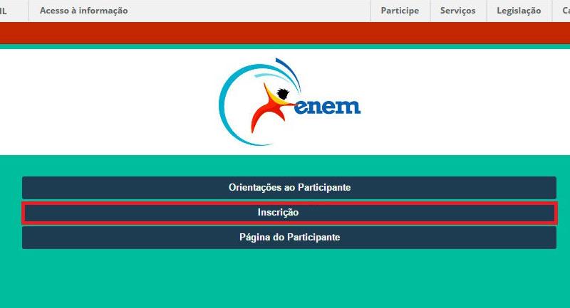 Passo 2 - Clique para acessar a área de cadastro do participante