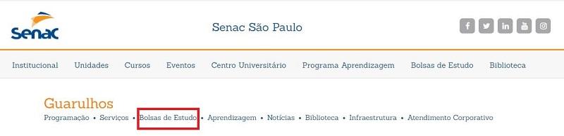 Inscrições SENAC Guarulhos 2021