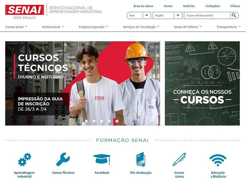 Inscrições Senai SP 2020