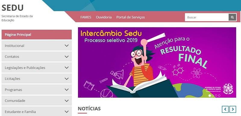 Matrícula Online SEDU ES