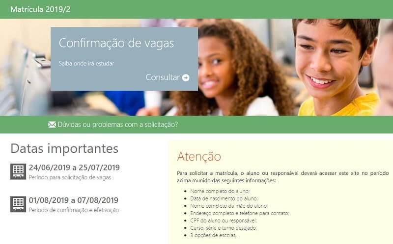 Matrícula Online SEDUCE GO