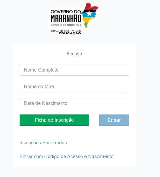 Matrícula Online SEDUC MA