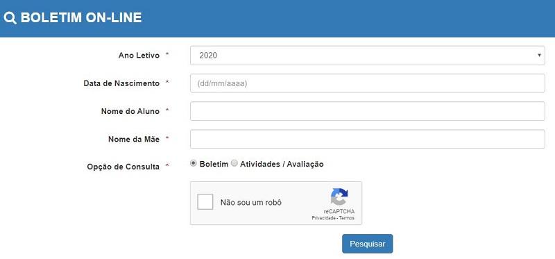 Como Consultar o Boletim Escolar Online