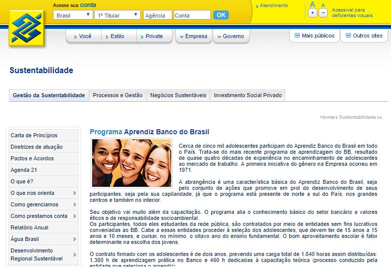 Inscrição Jovem Aprendiz Banco do Brasil