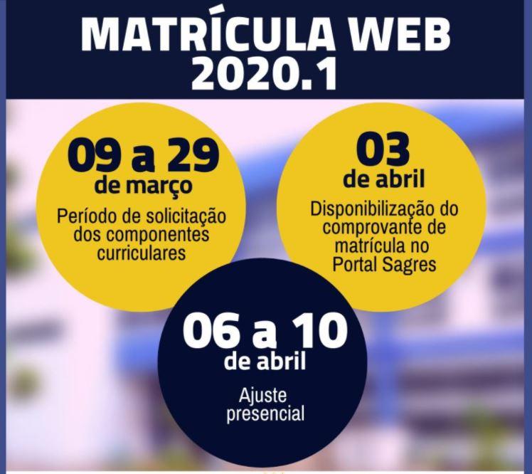 Calendário Matrícula WEB